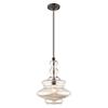 This item: Art Glass Mini Pendants English Bronze 13-Inch One-Light Mini Pendant with Champagne Glass