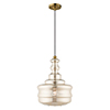 This item: Art Glass Mini Pendants Antique Brass 13-Inch One-Light Mini Pendant with Champagne Glass