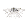 This item: Utopia Polished Chrome 20-Inch Four-Light Ceiling Mount with Clear Crystal Rods
