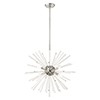 This item: Utopia Polished Chrome Eight-Light Pendant Chandelier