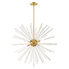 This item: Utopia Satin Brass 34-Inch Eight-Light Pendant Chandelier with Clear Crystal Rods