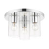 This item: Zurich Polished Chrome Three-Light Flush Mount
