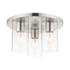 This item: Zurich Brushed Nickel Three-Light Flush Mount