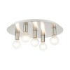 This item: Hillview Brushed Nickel Five-Light Flush Mount