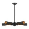 This item: Novato Black Five-Light Chandelier