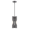This item: Acra Black Chrome Three-Light Mini Pendant
