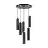 This item: Ardmore Shiny Black Six-Light Pendant