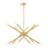 This item: Soho Satin Brass 12-Light Chandelier