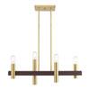 This item: Helsinki Satin Brass and Bronze Four-Light Linear Chandelier