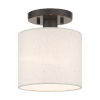 This item: Meadow English Bronze Seven-Inch One-Light Semi-Flush Mount