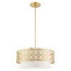 This item: Calinda Soft Gold Four-Light Chandelier