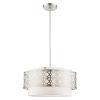 This item: Calinda Brushed Nickel Four-Light Chandelier