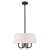 This item: Belclaire English Bronze 18-Inch Four-Light Pendant Chandelier with Hand Crafted Oatmeal Hardback Shade