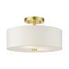 This item: Meridian Satin Brass 13-Inch Two-Light Semi-Flush Mount