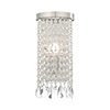 This item: Elizabeth Brushed Nickel 6-Inch One-Light ADA Wall Sconce with Clear Crystals