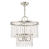 This item: Elizabeth Brushed Nickel 18-Inch Four-Light Pendant Chandelier with Clear Crystals