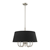 This item: Belclaire Brushed Nickel 24-Inch Six-Light Pendant Chandelier with Hand Crafted Black Hardback Shade