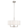 This item: Chelsea Brushed Nickel 18-Inch Four-Light Pendant Chandelier with Hand Crafted Off-White Hardback Shade