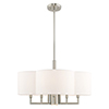 This item: Chelsea Brushed Nickel 24-Inch Six-Light Pendant Chandelier with Hand Crafted Off-White Hardback Shade