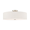 This item: Meridian Brushed Nickel 22-Inch Five-Light Ceiling Mount with Hand Crafted Oatmeal Hardback Shade