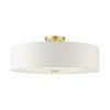 This item: Meridian Satin Brass Five-Light Semi-Flush Mount