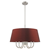 This item: Belclaire Brushed Nickel 24-Inch Six-Light Pendant Chandelier with Hand Crafted Red Wine Hardback Shade