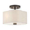 This item: Solstice English Bronze 11-Inch Two-Light Semi-Flush Mount