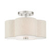 This item: Solstice Brushed Nickel 13-Inch Two-Light Semi-Flush Mount