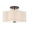 This item: Solstice English Bronze 13-Inch Two-Light Semi-Flush Mount