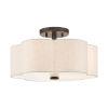 This item: Solstice English Bronze 15-Inch Three-Light Semi-Flush Mount