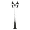 This item: Hamilton Textured Black Two-Light Outdoor Post Lantern