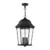 This item: Hamilton Textured Black 13-Inch Three-Light Outdoor Pendant Lantern
