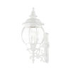 This item: Frontenac Textured White Four-Light Outdoor Wall Sconce