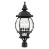 This item: Frontenac Textured Black 12-Inch Four-Light Outdoor Post Lantern
