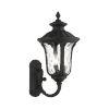 This item: Oxford Textured Black 11-Inch Three-Light Outdoor Uplight Wall Lantern