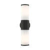 This item: Landsdale Textured Black Two-Light Outdoor ADA Wall Sconce