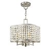 This item: Grammercy Brushed Nickel 14-Inch Four-Light Convertible Pendant