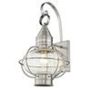 This item: Newburyport Brushed Nickel One-Light 12-Inch Wall Lantern
