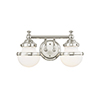 This item: Oldwick Polished Chrome Two-Light 15-Inch Bath Vanity