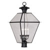 This item: Westover Black Four-Light Outdoor Post Head