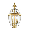 This item: Monterey Polished Brass Three-Light Outdoor Fixture