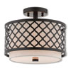 This item: Arabesque English Bronze 12-Inch Two-Light Ceiling Mount