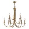This item: Estate Antique Brass 30-Inch Nine-Light Chandelier