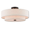 This item: Claremont English Bronze 18-Inch Four-Light Ceiling Mount