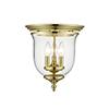 This item: Legacy Polished Brass Three-Light Semi Flush Mount
