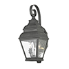 This item: Exeter Charcoal Two-Light Outdoor Wall Lantern