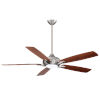 This item: Dyno XL Brushed Nickel 60-Inch Smart Ceiling Fan with Medium Maple and Dark Walnut Blades