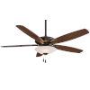 This item: Mojo Oil Rubbed Bronze 52-Inch Three-Light LED Ceiling Fan