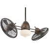 This item: Vintage Gyro Restoration Bronze 42-Inch LED Ceiling Fan