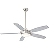 This item: Espace Brushed Nickel and Silver LED Ceiling Fan